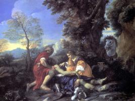 Пьер Франческо Мола. Эрминия и Вафрино ухаживают за раненым Танкредом