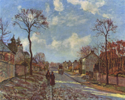 Camille Pissarro. The road from Louisianna