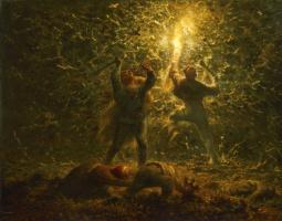 Жан-Франсуа Милле. Ночная охота на птиц (Разорители гнёзд)