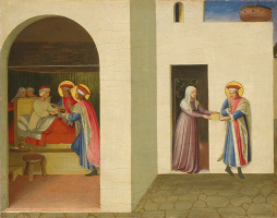 Fra Beato Angelico. Healing of Palladian's husband by Saints Cosma and Damian. The altar of the monastery of San Marco. Limit, left side