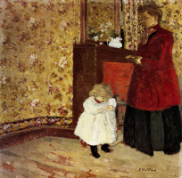 Jean Edouard Vuillard. Mother and child