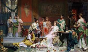 Хуан Хименес. Туалет римской дамы