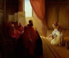 Франческо Айец. Валенца Градениго перед Инквизицией