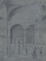 Gentile Bellini. Priests and Doge at the Church Ceremony