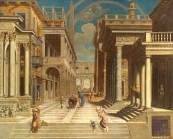 Paris Bordon. The apparition of the sibyl to Emperor Augustus