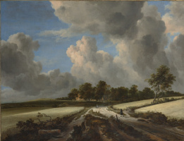 Jakob van Isaacs Ruisdael. Wheat fields