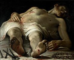 Аннибале Карраччи. Мертвый Христос