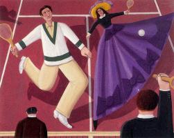 Оскар Демеджо. Игра в теннис