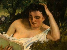 Гюстав Курбе. Молодая женщина за чтением, фрагмент1