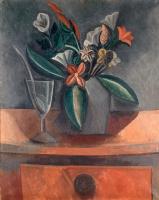 Пабло Пикассо. Букет цветов в сером кувшине