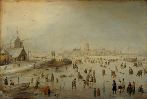 Хендрик Аверкамп. На льду за городом