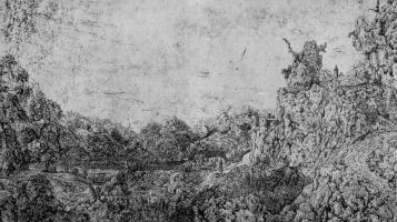 Херкюлес Питерс Сегерс. Скалистый пейзаж с водопадом