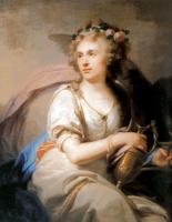 Лампи, Иоганн (старший). Портрет княгини Е. Ф. Долгорукой в виде Гебы, кормящей орла