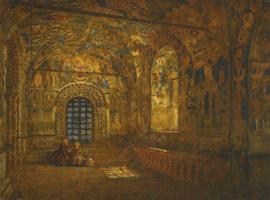 Vasily Vereshchagin. Portico of the Church