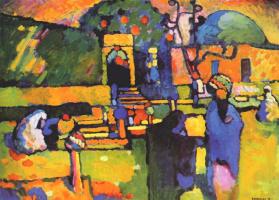 Wassily Kandinsky. Arabs. Cemetery