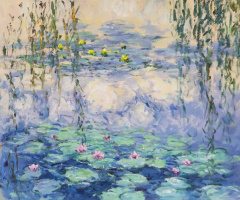 "Savely Kamsky. ""Water Lilies"", N27, a copy of Claude Monet's painting"