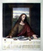 """Unknown artist. A copy of the fragment """"the last supper"""" by Leonardo da Vinci"""