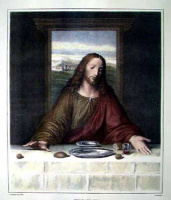 "Неизвестный  художник. Копия фрагмента ""Тайной вечери"" Леонардо да Винчи"