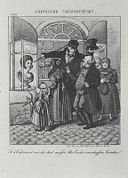 Адольф фон Менцель. Лейпцигские народные сценки, отдельный лист из юмористического журнала (06)
