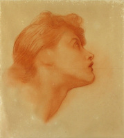 """George Frederick Watts. Outline shapes of Love, for """"Love and Life"""""""