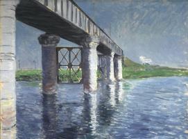Гюстав Кайботт. Сена и железнодорожный мост в Аржантёй