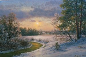 Alexander Vasilyevich Zoryukov. Winter evening