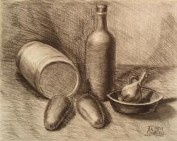 Лариса Луканева. Натюрморт с бочонком