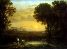 Желле Клод. Пейзаж с Товием и ангелом