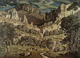 Konstantin Fedorovich Bogaevsky. Stream. Fantastic landscape