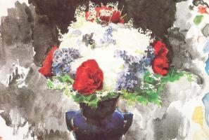 Михаил Александрович Врубель. Цветы в синей вазе