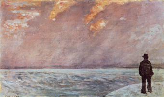 Giovanni Fattori. Sunset on the sea