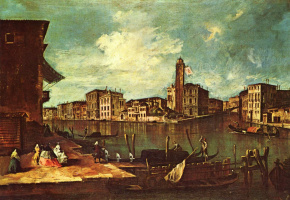 Francesco Guardi. The Grand canal in San Jeremy