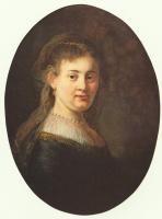 Рембрандт Ван Рейн. Портрет Саскии с вуалью