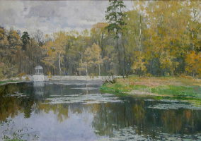 Boris Petrovich Zakharov. Autumn in the Park.