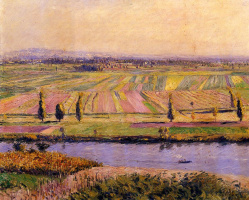 Gustave Caillebotte. Gennevilliers plains from the slopes of Argenteuil