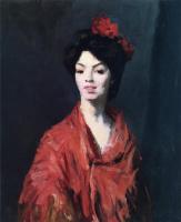 Роберт Генри. Испанская женщина в красной шали