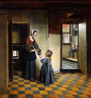 Питер де Хох. Женщина с ребенком