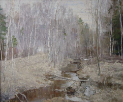 Boris Petrovich Zakharov. April to elk island.
