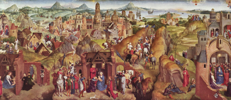 Hans Memling. Advent and Triumph of Christ or the Seven joys of Mary