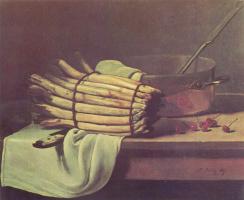 Франсуа Бонвэн. Натюрморт со спаржей