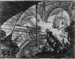 Джованни Баттиста Пиранези. Серия Тюрьмы, лист XI, первое состояние