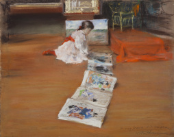 William Merritt Chase. The interior of the Studio, Shinnecock