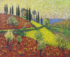 Henri Martin. The trees on the hill