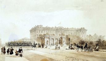 Иоганн Баптист Вайс. Вид Николаевского дворца в Петербурге