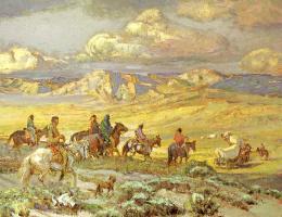 Оскар Эдмунд Бепнингхаус. Захват обоза индейцами