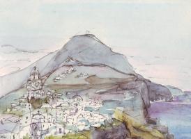 Наташа Чубарова. Santorin island