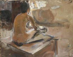 Семен Гавриилович Никифоров. В мастерской училища живописи