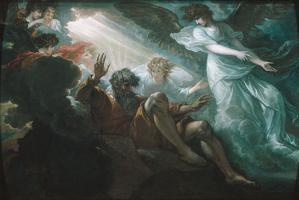 Бенджамин Уэст. Моисей, показвающий землю обетованную