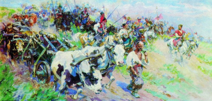 Nikolay Semenovich Samokish. The campaign of the Cossacks in the Crimea