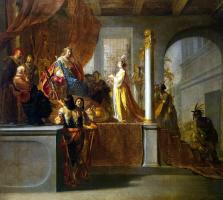 Николаус Кнюпфер. Царица Савская перед Соломоном